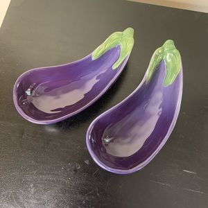 Williams-Sonoma Jardin Potager eggplant bowls